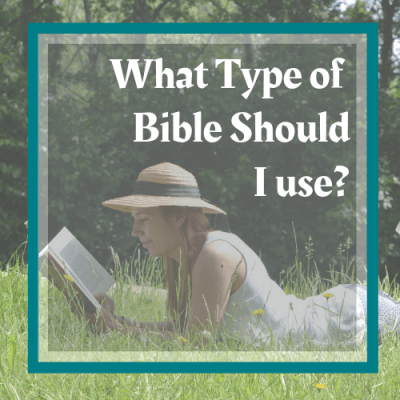 young-girl-lying-on-the-grass-reading-her-bible-find-out-more-about-what-type-of-bible-to-use-at-www-honeybiblestudy-com
