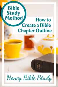 Yellow-teapot-cup-and-saucer-with-a-Bible-and-the-page-title-How-to-create-a-Bible-chapter-outline-In-6-easy-steps-you-can-create-a-Bible-Chapter-Outline-study-a-framework-on-which-to-build-useful-personal-Bible-study-tools-as-well-as-detailed-studies