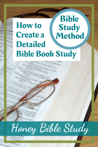 pair-of-reading-spectacles-resting-on-an-open-Bible-illustrating-the-title-of-the-page-which-is-How-to-create-a-detailed-Bible-book-study
