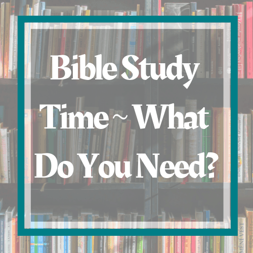 three-book-shelves-full-of-books-so-what-do-you-need-for-a-bible-study-read-more-in-the-post-at-www-honey-bible-study-com