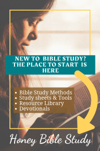 silhouette-of-a-girl-holding-a-open-book-with-the-words-new-to-bible-study-the-place to start-is-here-followed-by-a-list-of-things-to-be-found-on-the-honey-bible-study-website